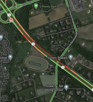 Colts Neck: Overturned Auto on Route 18
