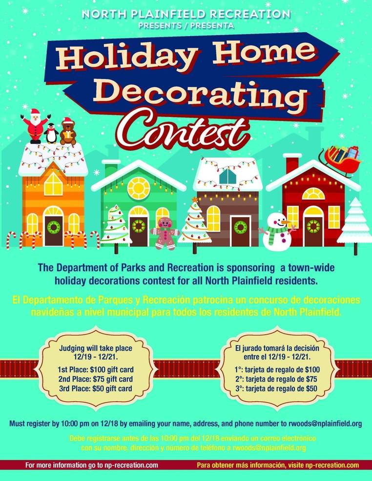 North Plainfield Holiday Home Decorating Contest
