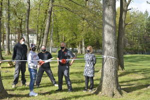 West Essex H.S. STEM Club Holds Outdoor Classroom