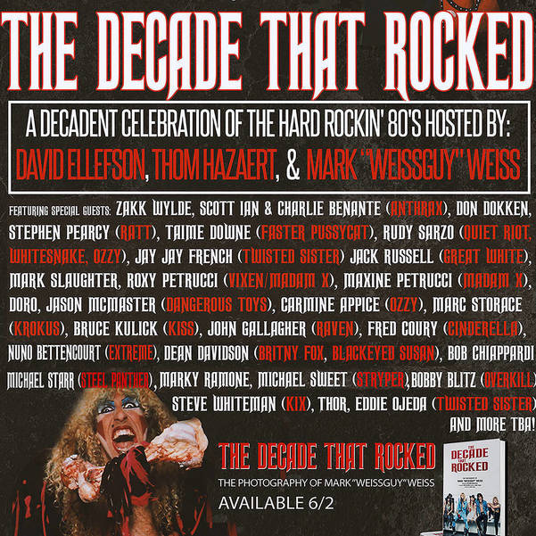 Hard Rock Tribute to the '80's: Saturday May 30th, live-stream extravaganza, 7PM, Join David Ellefson of Megadeth and Thom Hazaert