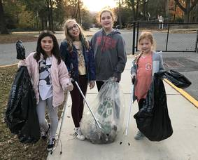 Carousel image e918f384db704d8fb5a7 a 5th grade troop 96476 cleaning up valley view giada bott  maria rothschild  katie tubbs  nyah lakin