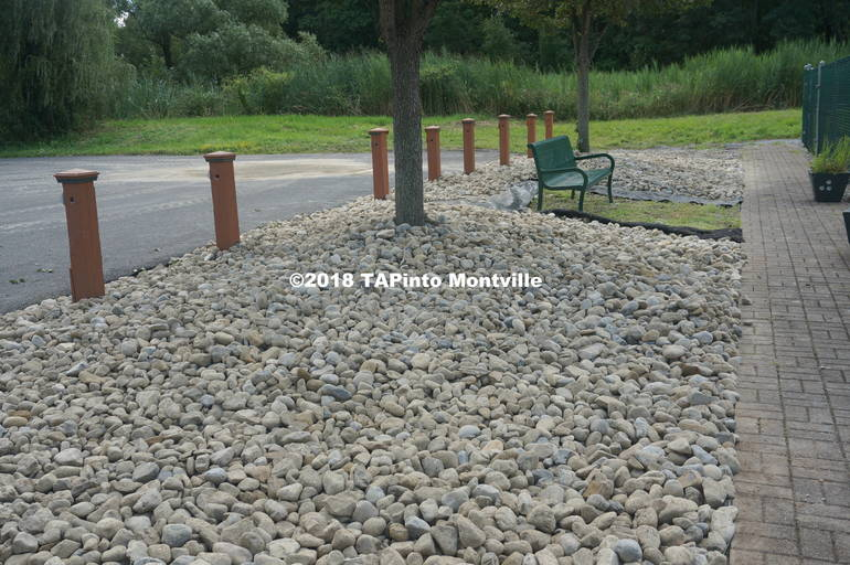 a A new rock bed laid down by the Clean Communities workers at the Dog Park ©2018 TAPinto Montville.JPG