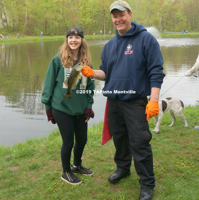 a Angie Ervy with one of her largemouth bass 8.5 ©2019 TAPinto Montville.JPG