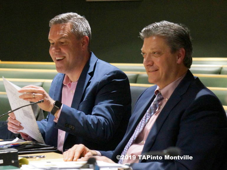 a a Traffic engineer Nick Verderese gives testimony as atty Steven Schepis looks on ©2019 TAPinto Montville.JPG