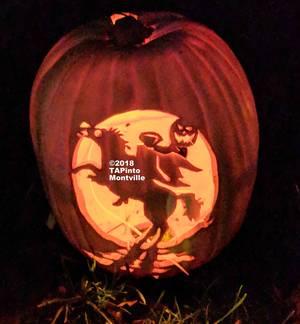 Carousel image 1220a5a6897427291445 a a headless horseman jack o lantern at the wagner farm arboretum pumpkin blaze  2018 tapinto montville
