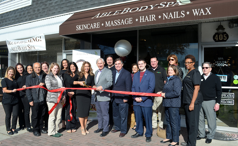 Ribbon-cutting at Able Body Spa in downtown Scotch Plains on Saturday, Nov. 9, 2019.