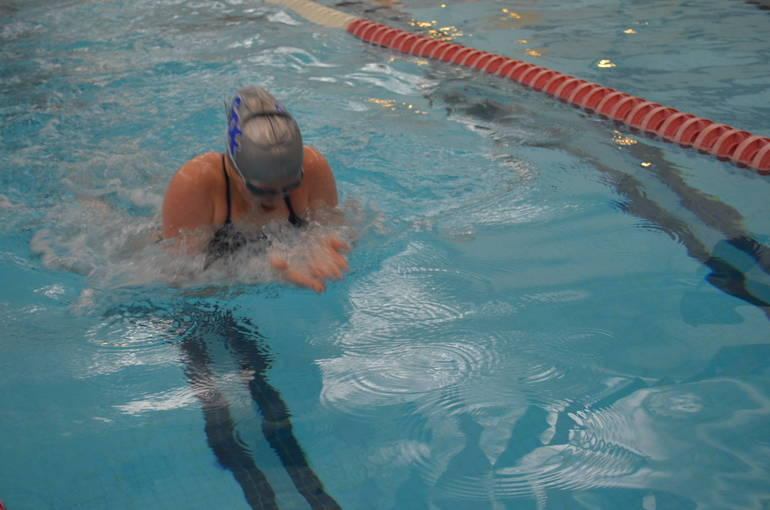 Scotch Plains-Fanwood swimming's Abby Ryan in the 100 Breaststroke.