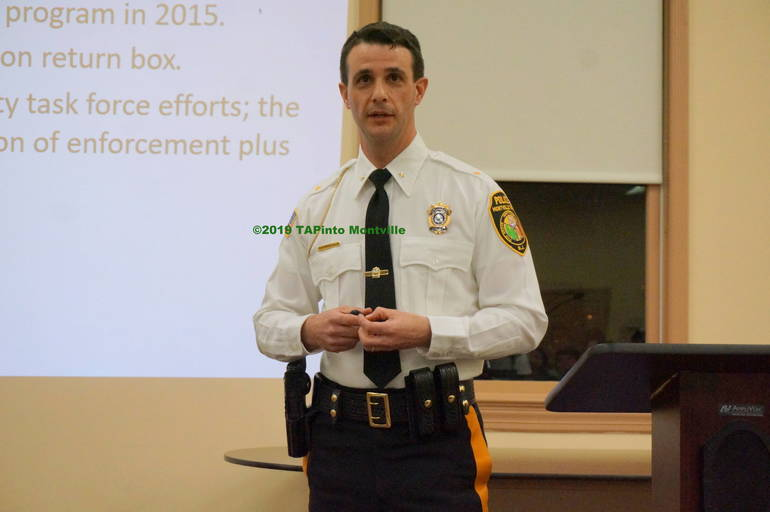 a Chief Andrew Caggiano tells residents about crime in Montville ©2019 TAPinto Montville.JPG