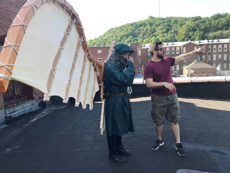 Actor Matthew Serra takes direction  from Director Christopher Boncimino.jpg