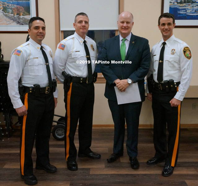 a Capt. Carlo Marucci, Capt. Mark Olsson, Morris County Sheriff James Gannon, and Chief Andrew Caggiano ©2019 TAPinto Montville.JPG
