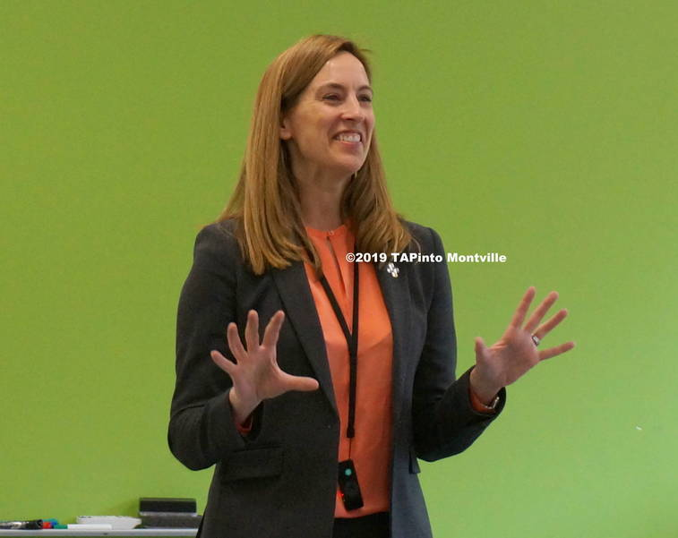 a Congresswoman Mikie Sherrill speaks to students at MTHS ©2019 TAPinto Montville  3.JPG