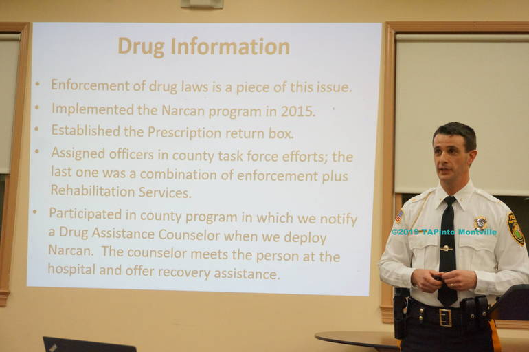 a Chief Andrew Caggiano tells residents about crime in Montville ©2019 TAPinto Montville 2.JPG