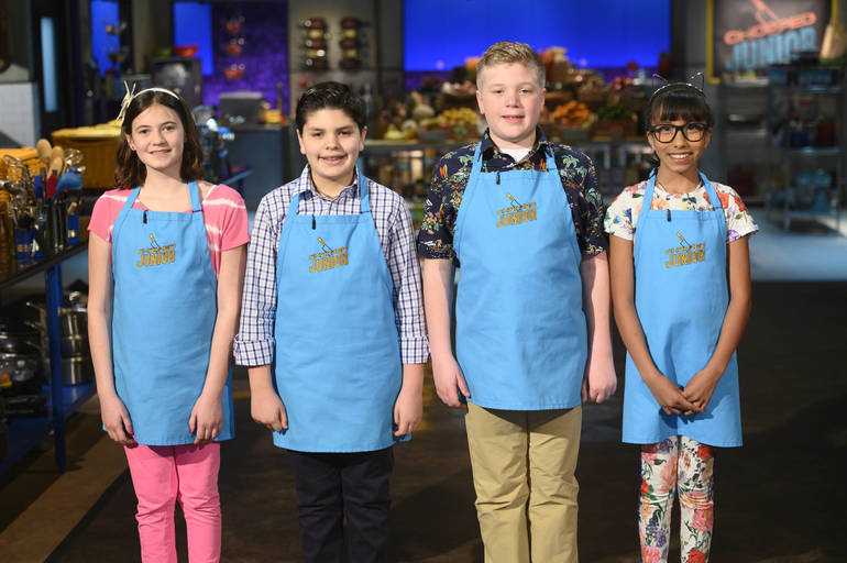 Adeline Pulioff, Andres De Marco, Jamie Foerst, and Madi Loor, as seen on Chopped JuniorPhotoCourtesyofFoodNetwork.jpeg