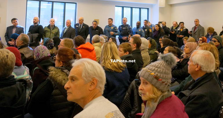 a Digitaries and police chiefs line the room ©2019 TAPinto.net.JPG