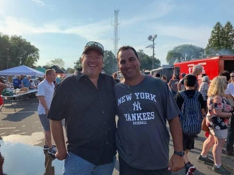 Adminstrator Glenn Cullen with Sgt Gary Cassio, coordinator of NNO 2019.jpg