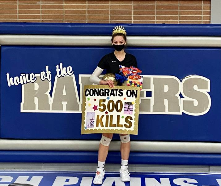 Scotch Plains-Fanwood volleyball player Adelina Berisha notched her 500th career kill against Union Catholic on March 31.
