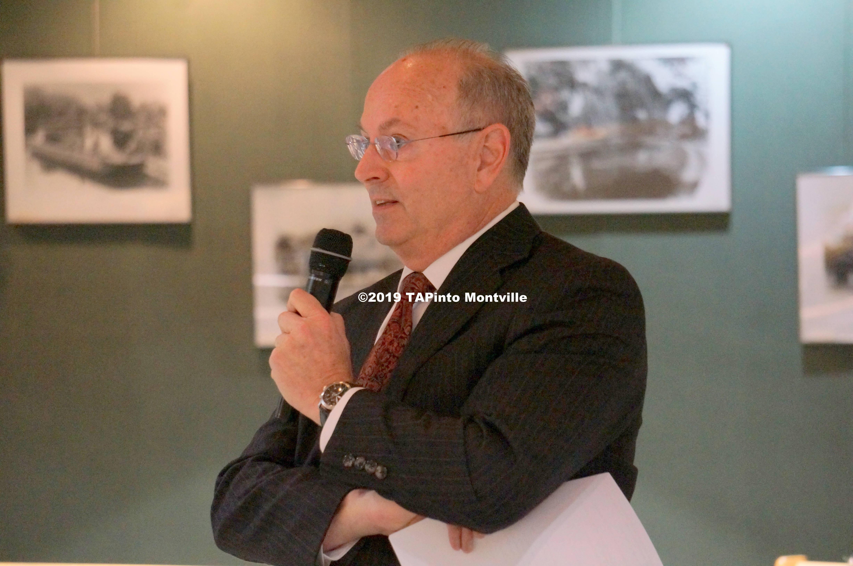 a Former mayor John Rosellini addresses the township committee ©2019 TAPinto Montville.JPG