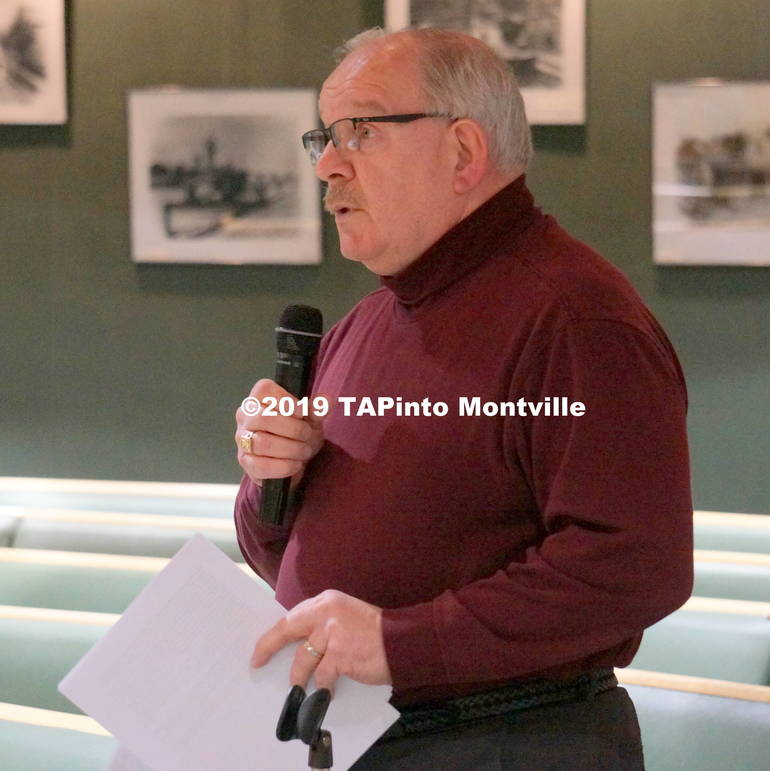 a Former mayor Jim Sandham addresses the committee about open space ©2019 TAPinto Montville.JPG