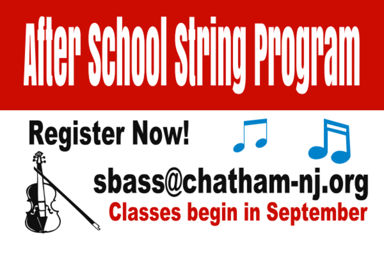 Chatham 3rd Grade After School String Program for Beginners is Open for Sign-ups