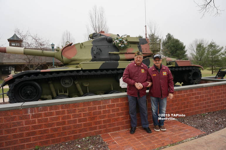 a Gerry Gemian and Dom D'Andrea in front of the VFW tank ©2019 TAPinto Montville.jpg
