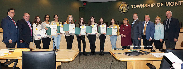 a Girl Scout Silvers and officials ©2020 TAPinto Montville WATERMARKED.JPG