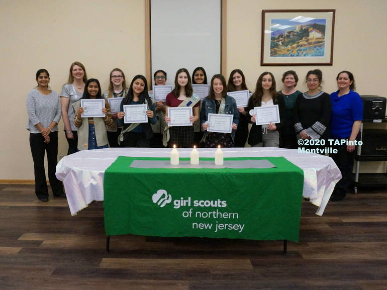 a Girl Scouts with leaders ©2020 TAPinto Montville.JPG