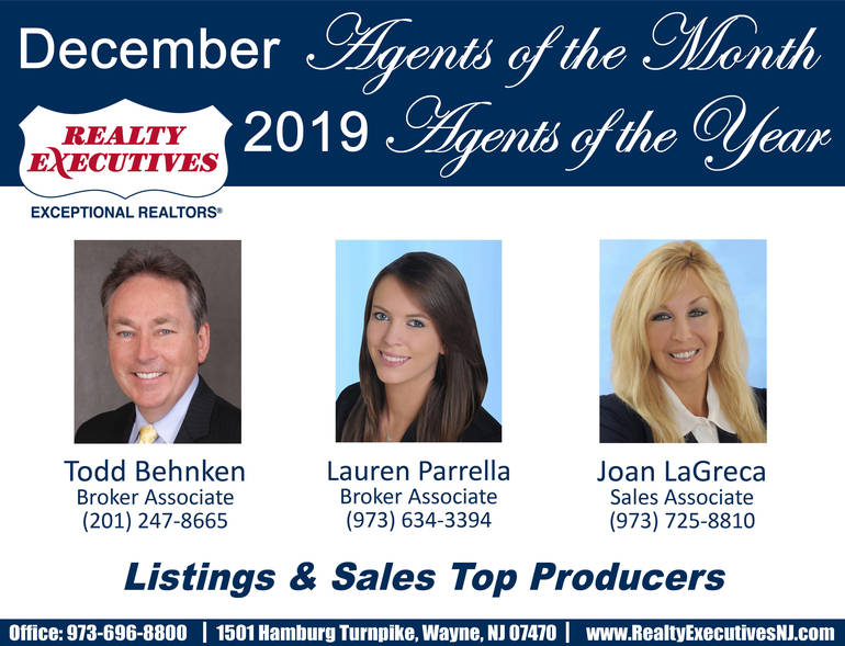 Agents of Month December & Year 2019