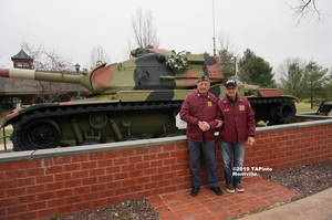 Carousel image 760a3d5a2aaa8146fdec a gerry gemian and dom d andrea in front of the vfw tank  2019 tapinto montville