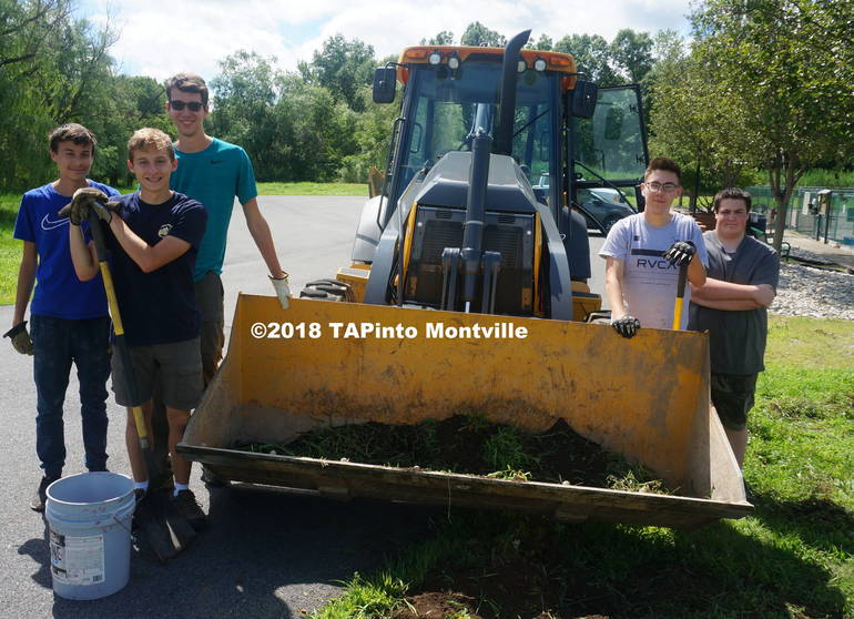 a Half of the township's summer-hire Clean Communities grant workers ©2018 tAPinto Montville.JPG