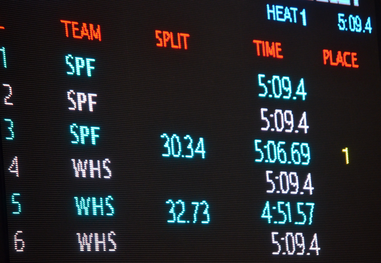 Aislinn Mooney set the Scotch Plains-Fanwood record in the 500 freestyle