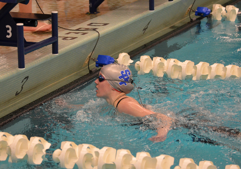 Aislinn Mooney set the Scotch Plains-Fanwood record in the 500 freestyle on March 25, 2021.
