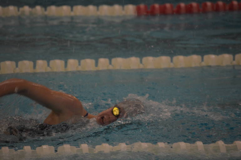 Scotch Plains-Fanwood swimming's Aislinn Mooney won the 500 Freestyle.