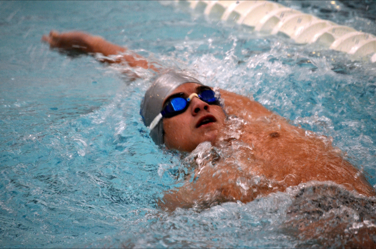 Scotch Plains-Fanwood boys swimming's Aidan Trenery.