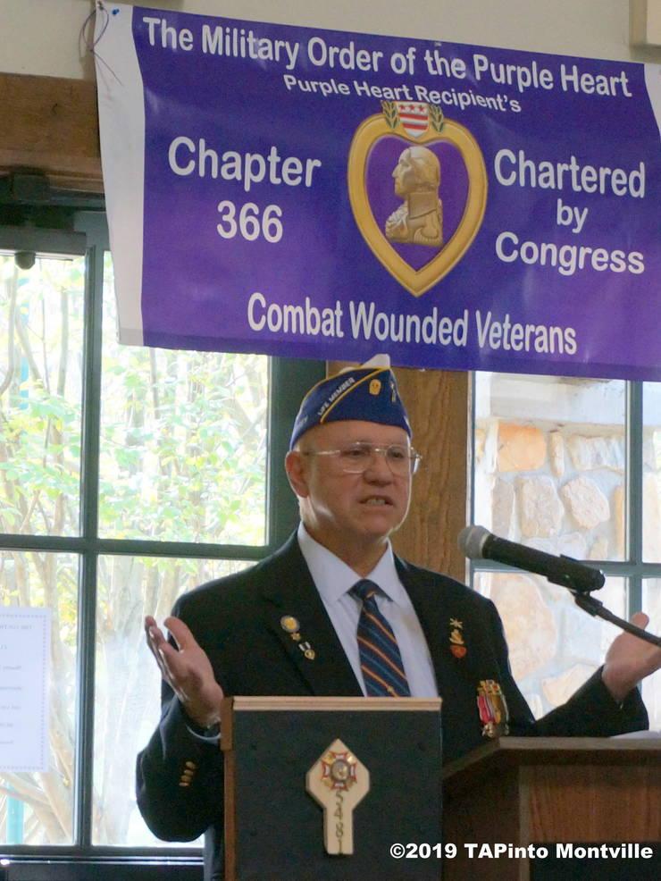 a Joe Belardo, State Commander, Military Order of the Purple Heart ©2019 TAPinto Montville.JPG