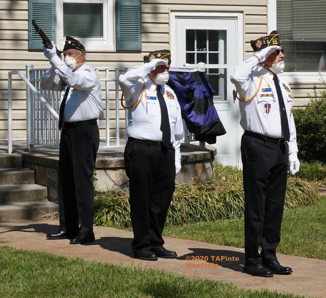 a Jeff Jones performs a gun salute ©2020 TAPinto Montville.JPG
