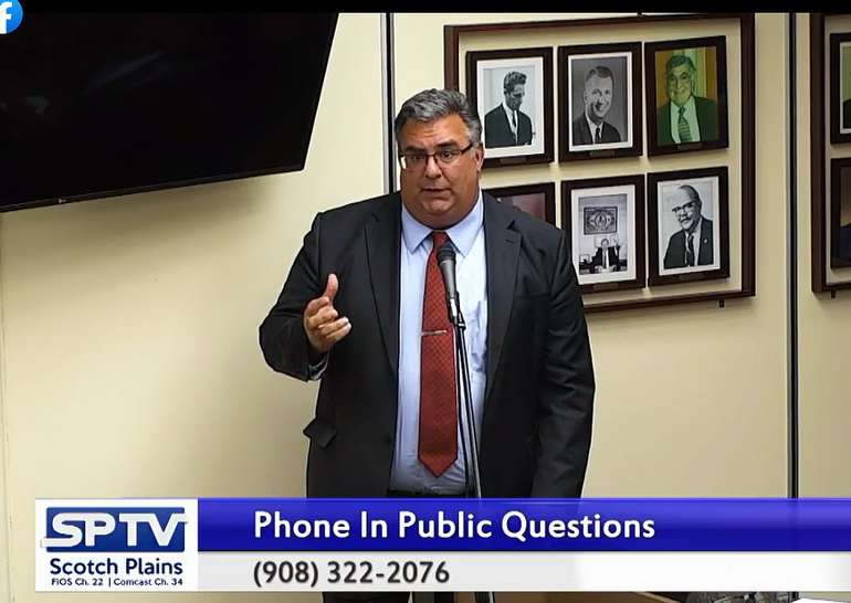 Scotch Plains Township Manager Al Mirabella at Oct. 20 meeting.png