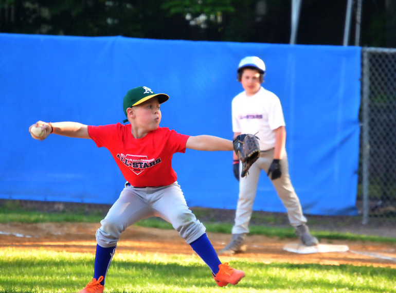 Red Team starter at the SPFBL AAA Division All-Star Game at Booth Field in Scotch Plains on May 24, 2019.