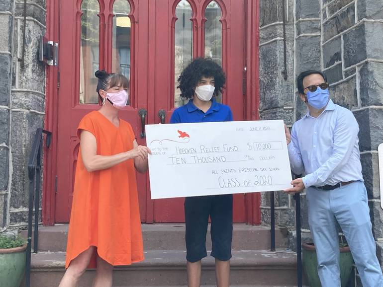 All Saints Episcopal Day School donates to the Hoboken Relief Fund - image via Phil Cohen.jpeg