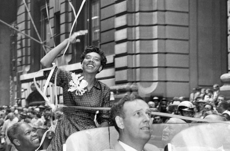 Althea Gibson - Ticker Tape Parade 1957 - public domain.jpg