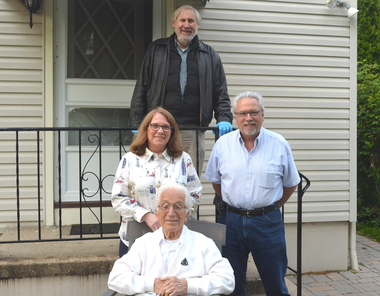 Scotch Plains Mayor Al Smith, Mary Ann Fantini Gilbert, husband Barry Gilbert, and Alphonse Fantini.