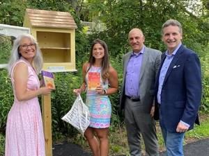 Little Free Library Installed at Pluckemin's Knox Avenue Park