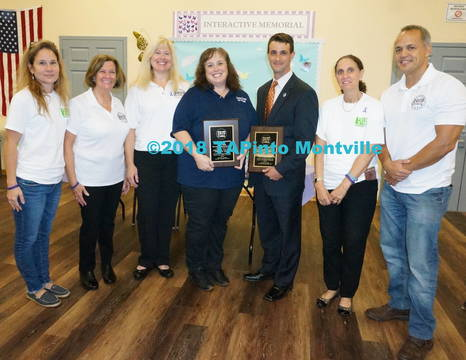 Top story 709db975bac67084411e a lisa accardi  nancy d oench and keri spitz of dac  vicki klein of the fas  a. chief caggiano  sharon cimino  and jeff matias of dac  2018tapinto montville