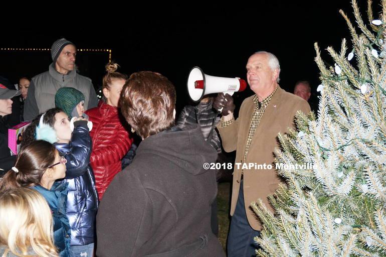 a Montville Township Mayor Richard Conklin addresses the crowd ©2018 TAPInto Montville.JPG