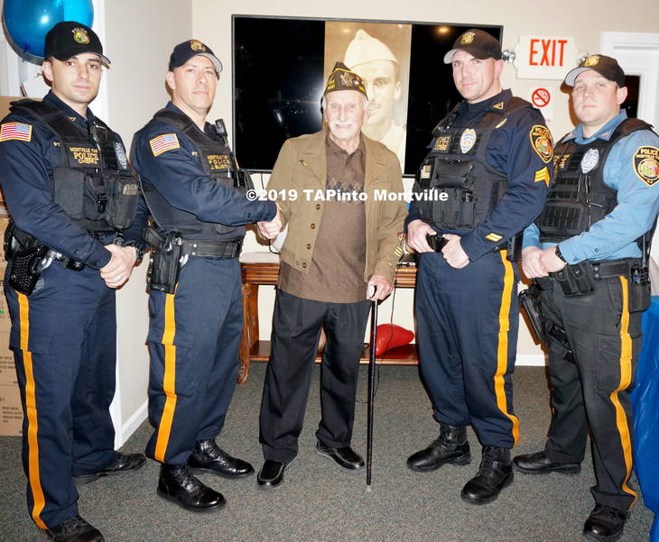 a Montville Twp Police thank 98-year-old Herbert Turner for his service ©2019 TAPinto Montville.JPG