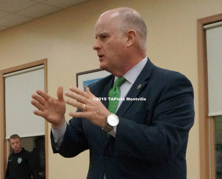 a Morris County Sheriff James Gannon talks to Montville residents about opiates ©2019 TAPinto Montville.JPG