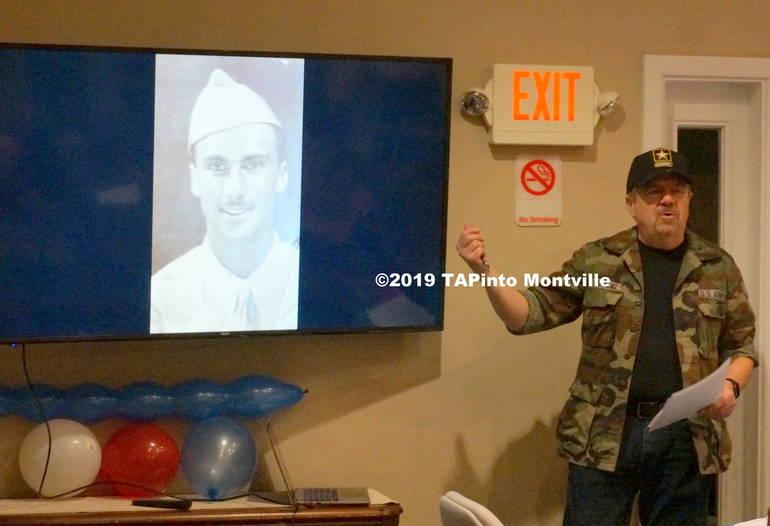 a Montville Chase Board President Vin Kaminsky presents on Herbert Turner ©2019 TAPinto Montville.JPG