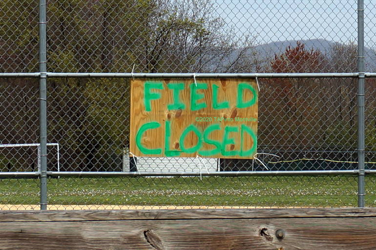 a Montville Twp High Schools Fields are Closed ©2020 TAPinto Montville.JPG