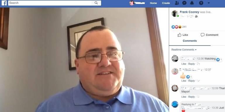 a Mayor Frank Cooney's Facebook Live Address    1 blurred.jpg