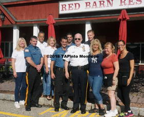 Carousel image 2c96a9e5c403ec16100d a members of the drug awareness council  the montville police  sheriff james gannon  and the owners of the red barn restaurant  2018 tapinto montville