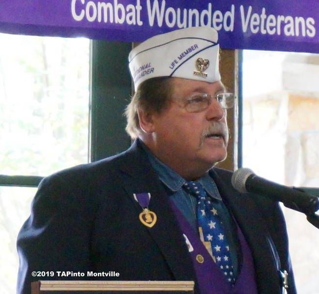 a Neil Van Ess, past national and state commander of the Military Order of the Purple Heart ©2019 TAPinto Montville.JPG